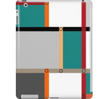 Abstract modern squares seamless pattern texture on retro colors background iPad Case/Skin