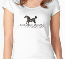 Bold.  Brave.  Beautiful.   Women's Fitted Scoop T-Shirt