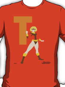 Terra - Superhero Minimalist Alphabet Clothing T-Shirt