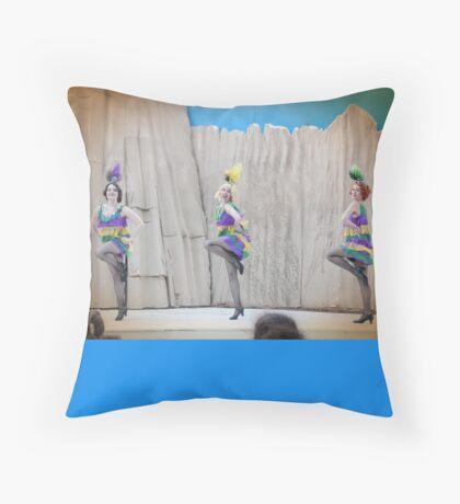 The Dapper Dancers - Strike A Pose Throw Pillow