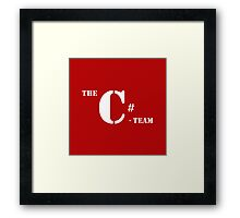 c sharp c# A team programming language Framed Print