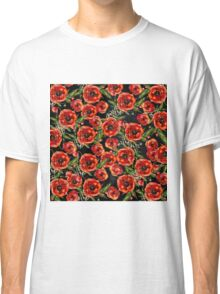 Poppy Pattern On Chalkboard Classic T-Shirt