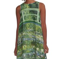 Monet Water Lilies Japanese Bridge Duvet Pillow Dress Sticker Skirt Cover Clock Bag A-Line Dress