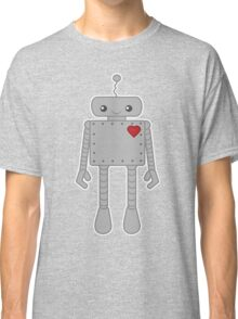 Cute Robot with Heart Classic T-Shirt