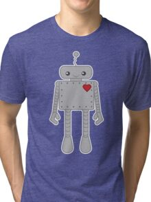 Cute Robot with Heart Tri-blend T-Shirt