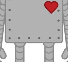 Cute Robot with Heart Sticker