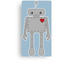 Cute Robot with Heart Canvas Print