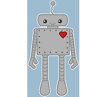 Cute Robot with Heart Photographic Print