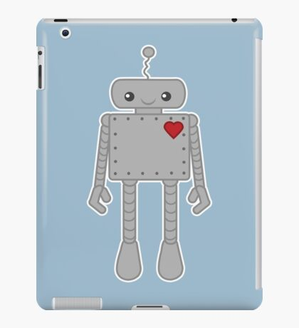Cute Robot with Heart iPad Case/Skin