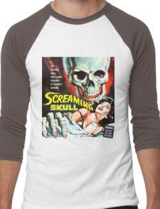 The Screaming Skull vintage movie poster Men's Baseball ¾ T-Shirt