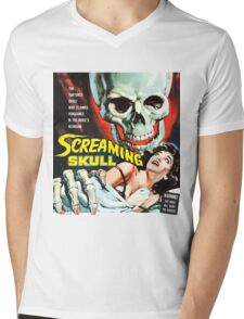 The Screaming Skull vintage movie poster Mens V-Neck T-Shirt