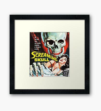 The Screaming Skull vintage movie poster Framed Print