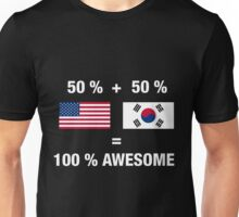 Half Korean Half American 100% South Korea Flag Unisex T-Shirt