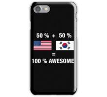 Half Korean Half American 100% South Korea Flag iPhone Case/Skin