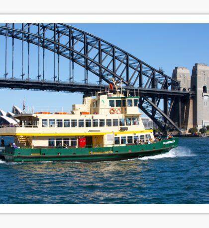 Sydney Ferry and Harbour Bridge New South Wales Australia  Sticker