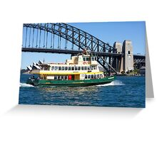 Sydney Ferry and Harbour Bridge New South Wales Australia  Greeting Card
