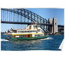 Sydney Ferry and Harbour Bridge New South Wales Australia  Poster