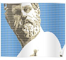 Greek Statue #1 - Blue Poster