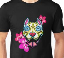 Mexican - Slobbering Pit Bull Day Of The Dead Pitbull Sugar Skull Dog Unisex T-Shirt