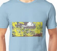 yellow on gray early sky  Unisex T-Shirt
