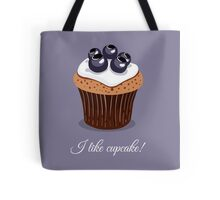 Seamless Pattern Blueberry Cupcakes Tote Bag