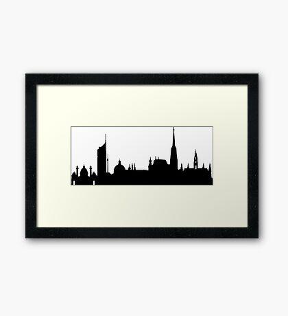 Vienna skyline Framed Print
