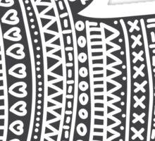 Wooly mitten glove Christmas winter design Sticker