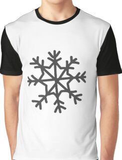 Snowflake in black Christmas winter design Graphic T-Shirt