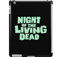 Night of the Living Dead logo iPad Case/Skin