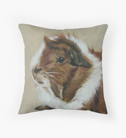 """Lucky"" Gorgeous Guinea Pig Throw Pillow"