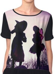 Mandy Monarch meets Stella the Witch Chiffon Top