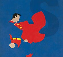 Superman - Superhero Minimalist Alphabet Print Art by justicedefender