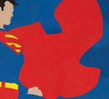 Superman - Superhero Minimalist Alphabet Print Art Sticker