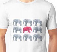 Elephants Red Unisex T-Shirt