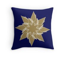 Holiday star 4 Throw Pillow