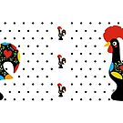 Famous Rooster 05 | Polka Dots Pattern by Silvia Neto