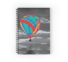 the colored hot air balloon Spiral Notebook