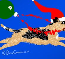 Border terrier - bauble thief! Sticker