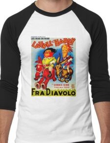 LAUREL & HARDY; Vintage Fra Diavolo Advertising Print Men's Baseball ¾ T-Shirt