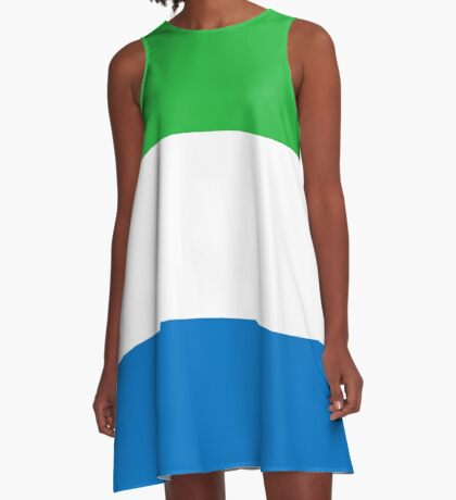 Sierra Leone Flag T-Shirt Sticker A-Line Dress