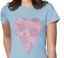 Colorful Heart Womens Fitted T-Shirt