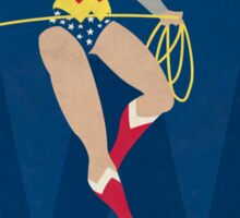 Wonder Woman - Superhero Minimalist Alphabet Print Art Sticker