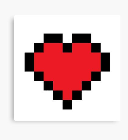 8bit love 8 bit Canvas Print