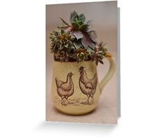 Hen and Chicks and Rooster too. Greeting Card