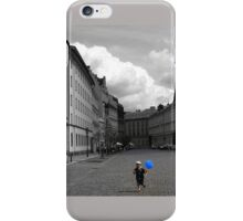Boy with Blue Balloon iPhone Case/Skin