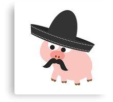 Cerdito Bandito Pig Canvas Print