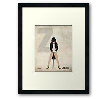 Zatanna - Superhero Minimalist Alphabet Print Art Framed Print