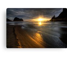 Into the sun, Piha Canvas Print