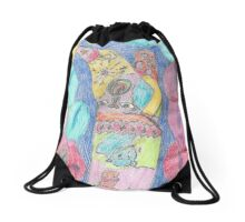 The strange boot dream  Drawstring Bag