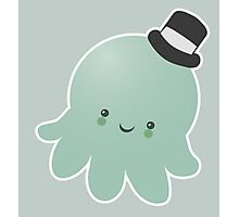 Cute Octopus wearing a Top Hat Photographic Print